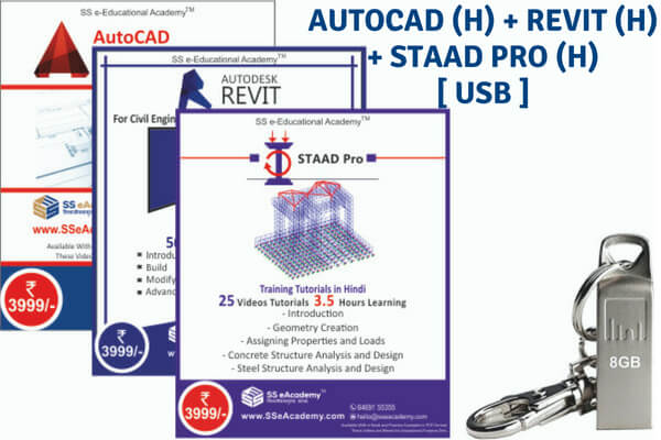 AutoCAD + Revit +Staad Pro Tutorials - USB cover