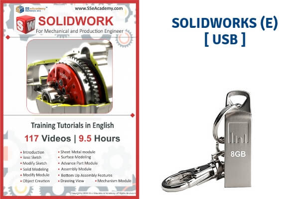 Solidworks 2018 Tutorials (English) - USB cover